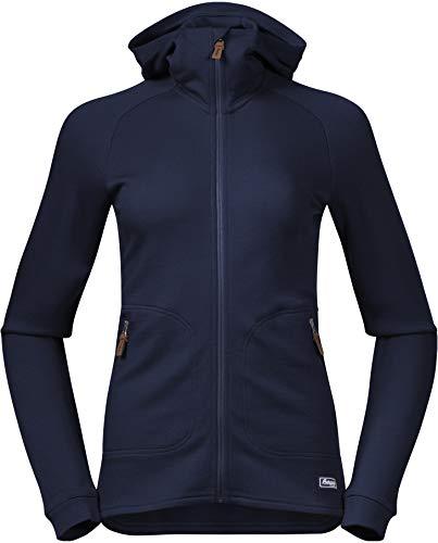 Bergans Damen Tuva Wool Hoodie Jacke, Navy, XL