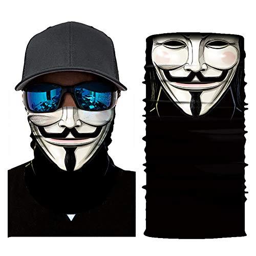 BIKITIQUE Radsport Face Masken Kopf Schal 3D Joker SchädelMuster Maske Nacken wärmere Gesichtsmaske