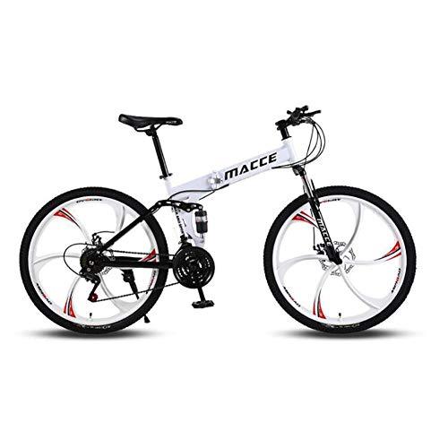 Bicicleta de senderos de montaña, bicicleta de montaña al aire libre de 26 ', marco de acero de Highcarbon, Twist Shifters a través de 27 velocidades, Ciclismo deportivo jianyou ( Color : White )