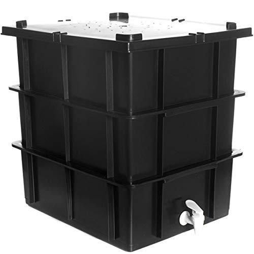 Composteira Doméstica Preta 15 Litros