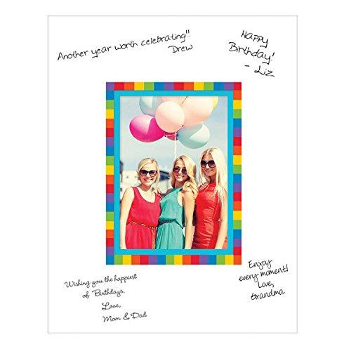 Rainbow Autograph Photo Mat- Fits 5 x 7 inch Photo