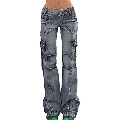 keepwo Pantalones vaqueros militares de algodón para mujer, pantalones vaqueros de entrenamiento, talla M, 2, M