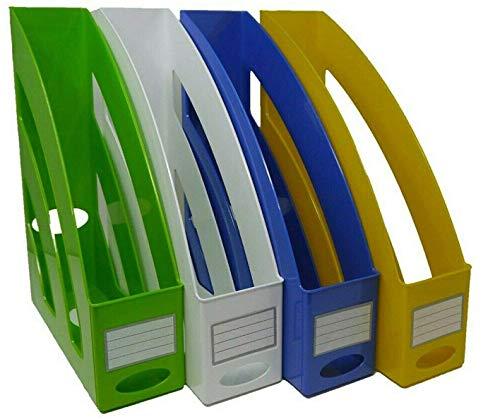 Stehsammler/Zeitschriftensammler – in trendigen Farben & modernen Design Aufbewahrung von, Heften & Mappen sowie Dokumenten bis Format A4–C4, Stück (blau)