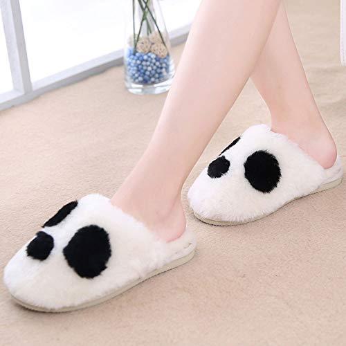 YLL Hombres y Mujeres Zapatillas de algodón de Invierno Caliente Lindo Inicio Zapatos de Habitaciones Peludo Slip Inside Zapatillas Zapatillas (Color : Beige, Size : 35 EU)