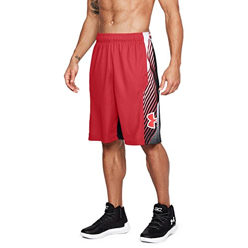 Under Armour Pantalones Cortos Vector de 11 Pulgadas para Hombre, Hombre, 1305730, Rojo (600)/Rojo, S