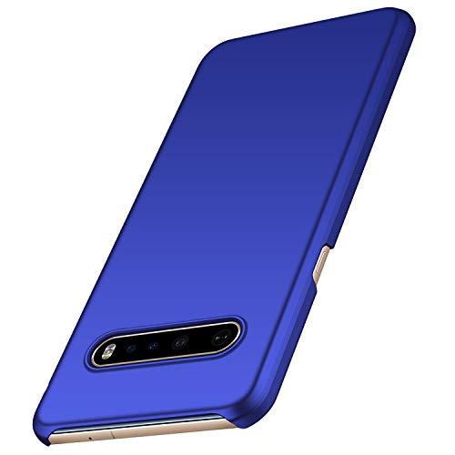 anccer Kompatibel LG V60 ThinQ Hülle [Serie Matte] Elastische Schockabsorption & Ultra dünnes Handyhülle Design für LG V60 ThinQ 5G (Glattes Blau)