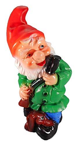 GOM Gartenzwerg als Jäger 30 x 13 cm Zwerg Germany Garten bruchfest PVC Deko 603