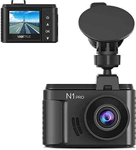 Vantrue N1 Pro Mini Dashcam Full HD 1920 x 1080P Auto Dashcam 1,5 Zoll 160 Grad Dashcam mit Sony Nachtsicht-Sensor, 24 Stunden Parkmodus, Bewegungssensor, Kollisionserkennung, unterstützt max. 256 GB
