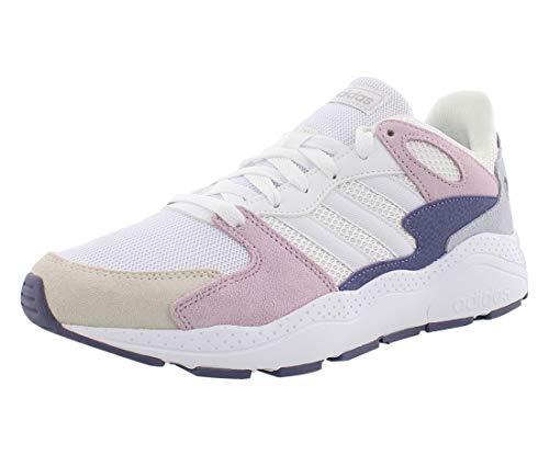 adidas Women's Chaos Sneaker, White/White/aero Pink, 8 M US