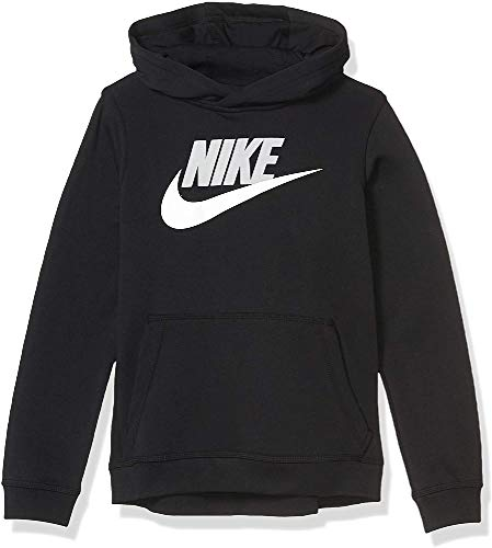 NIKE B NSW Club + Hbr Po Sudadera, Niños, Black/lt Smoke Grey, M
