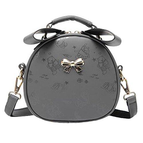 Loisirs élégant unique épaule sac à bandoulière sac à main mignon arc imprimé sac bandoulière?gris