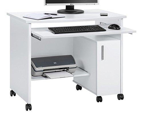 MAJA Möbel 4035 Schreib-und Computertisch ICY-weiß, Abmessungen (BxHxT): 94 x 77 x 60 cm, Holz, 94 x 60 x 77 cm
