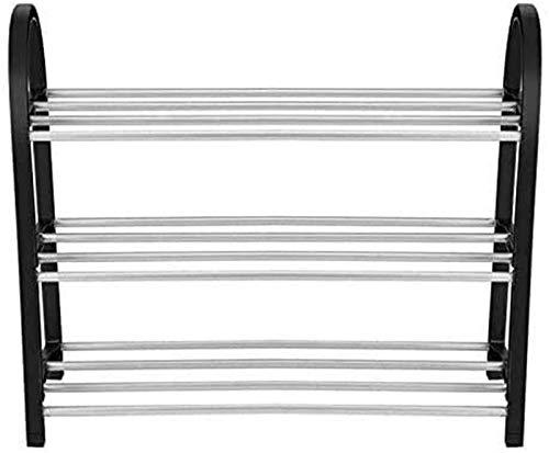 QZMX Estante de Zapatos Zapatero Zapatero en 3/4 Capas, Vertical en aleación de Aluminio, Estante (Color : 3 Tiers)