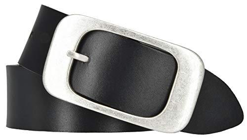 Mytem-Gear Damen Leder Gürtel 40 mm Damengürtel (80 cm, schwarz)