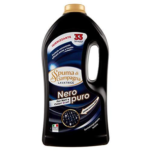 Spuma Di Sciampagna Detersivo Lavatrice Liquido Nero Fibra 33 Lavaggi - 2 Confezioni Da 3630 Ml