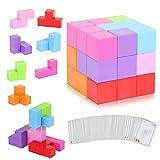 CMASTER Magnetische Würfel für Kinder mit 54 Smarte Teile Puzzles 3D Gehirn Training Intelligenz Spielzeug Spiele,Magnetische Bausteine, Kinder ab 3 Jahre
