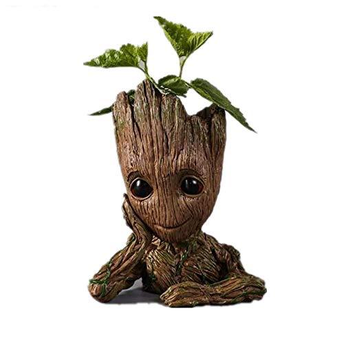 Pot de fleurs en bois «Baby Groot» - Grand format