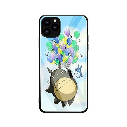 Carcasa de cristal templado de Totoro My Neighbor para iPhone 6, 6S, 7, 8 Plus, 10 X, XR, XS Max 11, 11Pro, 11 Pro Max, fundas traseras