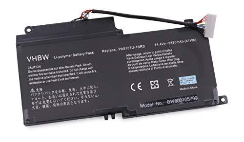 vhbw Batterie Compatible avec Toshiba Satellite L45, S50-AST2NX1, S50-AST2NX2, L40D, L45D, L50, L50-A Laptop (2500mAh, 14,4V, Li-ION)