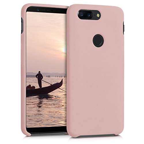 kwmobile TPU Silicone Case for OnePlus 5T - Soft Flexible Rubber Protective Cover - Dusty Pink