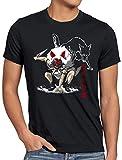 style3 Mononoke Wolf Herren T-Shirt Manga Anime japanisch, Größe:5XL