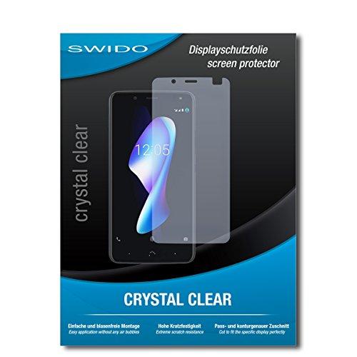 SWIDO Schutzfolie für BQ Aquaris V [2 Stück] Kristall-Klar, Hoher Festigkeitgrad, Schutz vor Öl, Staub & Kratzer/Glasfolie, Bildschirmschutz, Bildschirmschutzfolie, Panzerglas-Folie