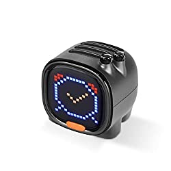 Divoom Portable Pixel Art Smart Alarm Clock Speaker for Kids with App Control (Black)