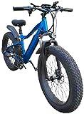 Bicicletas Eléctricas, Grasa de neumáticos de bicicletas de montaña eléctrica, aleación de aluminio de 26 pulgadas Bicicletas eléctricas 21 Velocidad de bicicletas Deportes al aire libre Ciclismo ,Bic