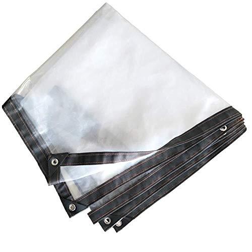 Glashelder dekzeil, waterdicht, weerbestendig zeil, wind- en koudebescherming, transparante kunststoffolie, overkapping voor buiten.