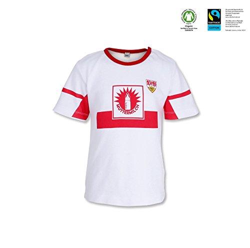 VfB Stuttgart GOTS Baby T-Shirt Muttermilch in 4 Größen verfügbar (62/68-98/104) VfB Fairplay Fairtrade! (74/80)
