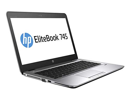 HP EliteBook 745 G4 14 pulgadas 1920 x 1080 Full HD AMD Pro A10 256 GB SSD disco duro 8 GB de memoria Windows 10 Pro Webcam Business Notebook (certificado y reacondicionado)