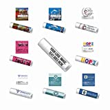 Personalized Label Premium Lip Balm 100-Pack. The Same Lip Balm We Sell for NCAA, NBA, NHL, MLB Premium Ingredients: Beeswax, Aloe Vera, Coconut Oil, Vitamin E, Avocado Oil, Cooling Mint Flavor SPF 15 Broad Spectrum UV Protection, Water Resistant 80 ...