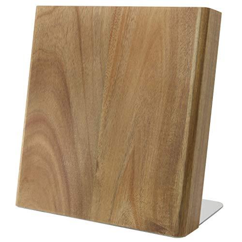 Coninx - Ceppo portacoltelli magnetico in legno di acacia – Ceppo portacoltelli senza coltello – Portacoltelli magnetico non fornito per una cucina ordinata