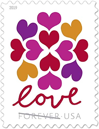 Love Forever Stamps - Wedding,Celebration,Graduation (2 Sheet,40 Stamps) 2019