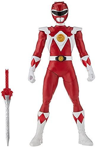 Power Rangers Mighty Morphin Red Ranger Morphin Hero Figura de acción de 12 Pulgadas con Accesorio, Inspirado en el Programa de televisión