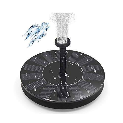 CZX Fuente Solar de baño de Aves 1.5W Círculo Bomba de Agua Solar Flotante con 5 boquillas, Incluido Estanque Flotante Decoración Piscina Jardín Estanque
