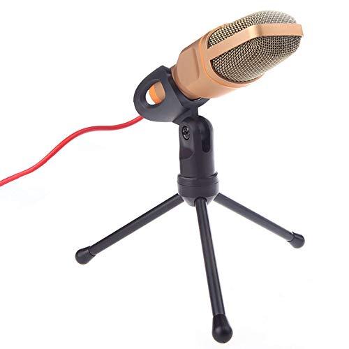 Fousamax Condensatormicrofoon voor computer, bureau, microfoon, dynamische microfoon, USB, met verstelbare metalen houder voor statief