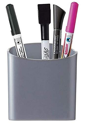 Quartet Magnetic Pen and Pencil Cup Holder, Gray (48120-GY)