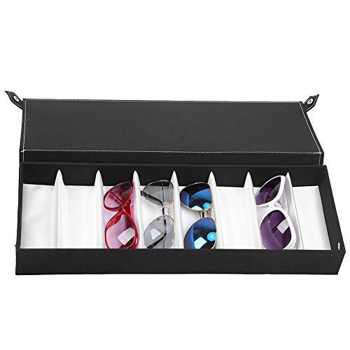 Nannday Schmuck Aufbewahrungsbox, 8 Gitter Staubdichte Brille Case Organizer Sonnenbrille Aufbewahrungsbox Schmuck Display Container