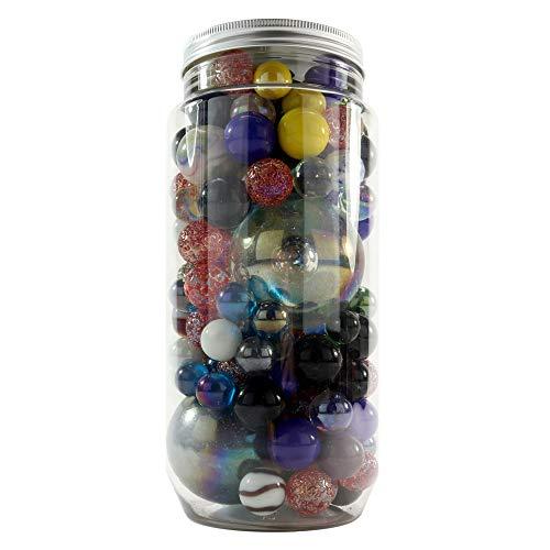 PhiLuMo Murmelino - Murmeln in der Dose/Bunte Glasmurmeln in verschiedenen Farben & Größen - 1,2 kg