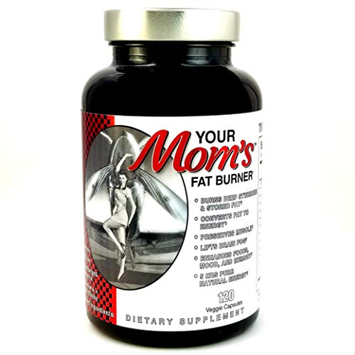 Your MOM'S Fat Burner - Ships Free Same Day! Muscle-Preserving Fat Burner Thermogenic Weight Loss Supplement – Keto Friendly, Appetite Suppressant - for Men and Women - 120 Natural Veggie Diet Pills