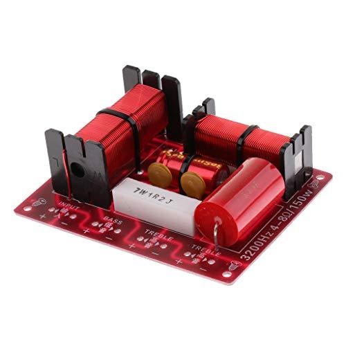 Baoblaze Diviseur de Fréquence Aigu Grave Audio de Croisement de Haut-Parleur Filtres 3 Voies 150w Crossover Conseil DIY Circuit de Dispositif de Haut-Parleur