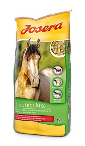JOSERA Leichter Mix (1 x 20 kg) | Premium Pferdefutter mit energiereduzierter Rezeptur | haferfrei | Müsli für Pferde in leichter Arbeit oder Erhaltung| 1er Pack