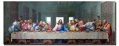 Fajerminart - Leinwandbilder Wandkunst - Gott Jesus Immer groß Poster Das Letzte Abendmahl Bilder, Geeignet Wohnzimmer Schlafzimmer, Büro Dekoration Leinwanddruck Malerei 60x180cm(Kein Rahmen)