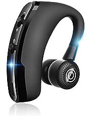 Cuffia Bluetooth,SHENXI Auricolare Bluetooth Senza Fili, Mono con Microfono HD, Orecchio singolo Ruotabile 180°, Supporto Siri, Riduzione del Rumore, per Lavoro o Guida