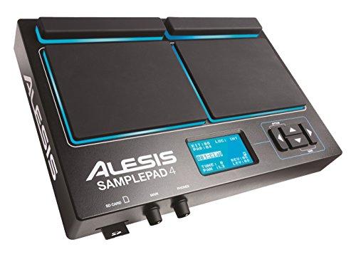 Alesis Sample Pad 4 - Instrumento multi-pad y controlador MIDI para percusiones y para disparar samples con ranura para tarjeta SD/SDHC