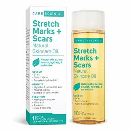 Care Science Stretch Marks + Scars Skin Care Oil, 5.07 Ounce | For Scars, Stretch Marks, Aging & Dehydrated skin | Natural Ingredients. Vitamin E Oil, Avocado Oil, Olive Oil, Coconut Oil, & More