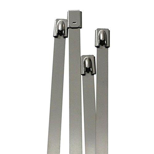 10x Edelstahl Kabelbinder 520 x 7,9mm ; Metall bis 500°C 114kg Zugfestigkeit