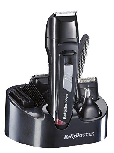 BaByliss E824E - Kit cortapelos con 8 funciones, cuchillas de acero inoxidable,...