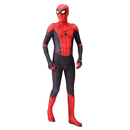 Spiderman Costume Carnevale Spider Man Far from Home Bambino Uomo Cosplay Animazione SPM014 (170-180)